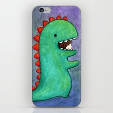 dino girl iPhone & iPod Skin