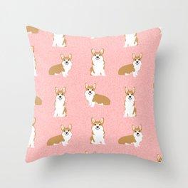 Corgis - Cute corgi, dog pet, corgi decor, corgi pillow, corgi bedding, corgi pattern, cute corgi Throw Pillow