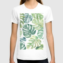 Tropical leaves Monstera leaves Jungle leaves Palm leaves T-shirt