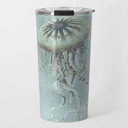 Jellyfish Underwater Aqua Turquoise Art Travel Mug