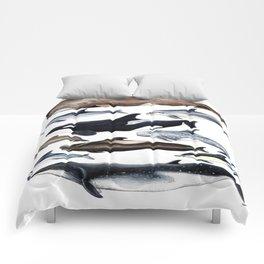Atlantic whales, dolphins and orca Comforters