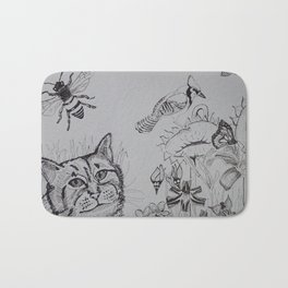 Birds and Bees Bath Mat