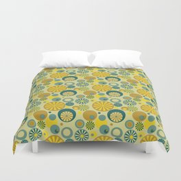 Circle Frenzy - Yellow Duvet Cover