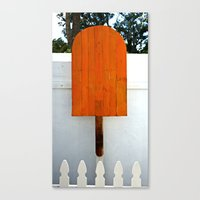 popsicle Canvas Prints featuring Popsicle  by Photaugraffiti
