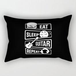 Eat Sleep Guitar Repeat - String Music Instrument Rectangular Pillow