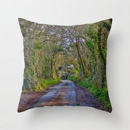 Mylor Walk - Turn Left for Restronguet Weir Throw Pillow