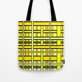 Yellow grid Tote Bag