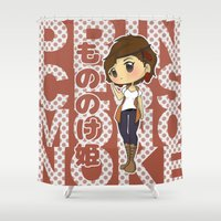 ghibli Shower Curtains featuring Grown-Up Ghibli - San by monobuu