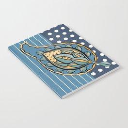 Blue Paisley Notebook
