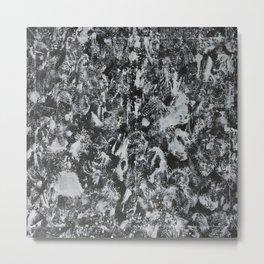 White Ink on Black Background #1 Metal Print
