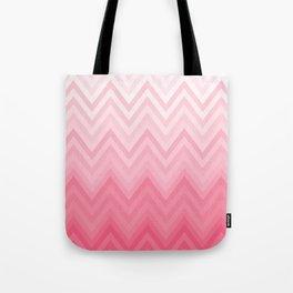 Fading Pink Chevron Tote Bag