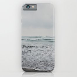 a stormy Pacific Ocean, Oceanside, California iPhone Case