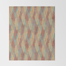 Feather Stripe - Soft Coral Throw Blanket