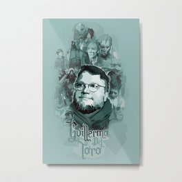 Del Toro and his Creations by Versago Metal Print