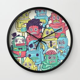 Robot's can't Smile Wall Clock