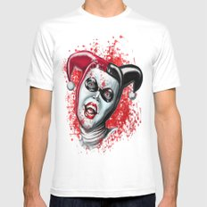 harlequin White SMALL Mens Fitted Tee
