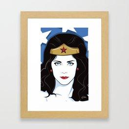 Wonderful Woman Framed Art Print