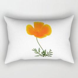 orange poppy Rectangular Pillow