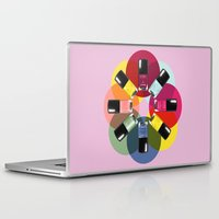 nail polish Laptop & iPad Skins featuring Designer Nail Polish Print by BeckiBoos