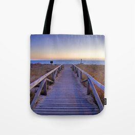 The path..., the beach.... Tote Bag