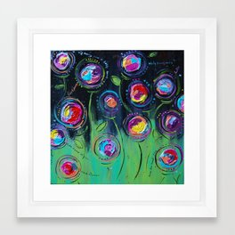 The Flowers Talk At Night Framed Art Print