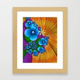 Blushing Blue Framed Art Print