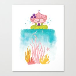 Coral Tickle - Tonia Dee Nature Girls Canvas Print