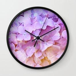 Multicolor beautiful Hydrangea petals - Flowers - Buds - Blossoms Wall Clock