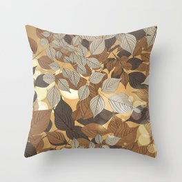 Leaves 5 Throw Pillow