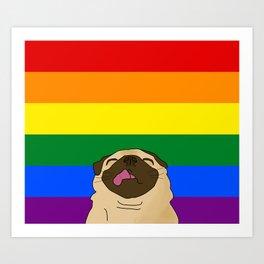 Pride Pug Art Print