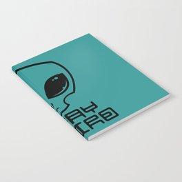 Stay Weird Alien Head Notebook