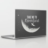 neverland Laptop & iPad Skins featuring Neverland by Pink Berry Patterns