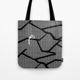 cracked plaid Tote Bag