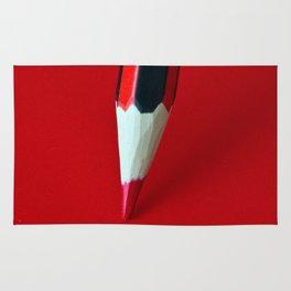Crayon rouge red Rug