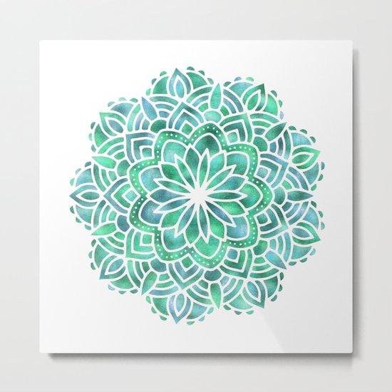 Mandala Southwest Succulent Metal Print