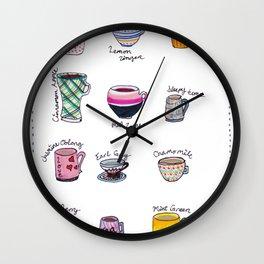 United States of Tea Wall Clock