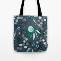 Subsea pattern, blue Tote Bag