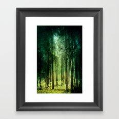 Enchanted light Framed Art Print
