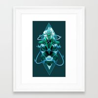 malachite Framed Art Prints featuring MALACHITE by Morguesque