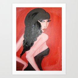 Vixen in Red Art Print