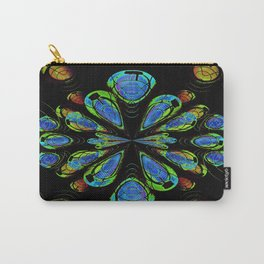 Blue Orby Abstract Carry-All Pouch