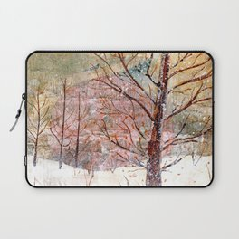 Blood Moon Rising over Snowy Dewdrop Holler Laptop Sleeve