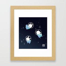 Space Bunnies Framed Art Print