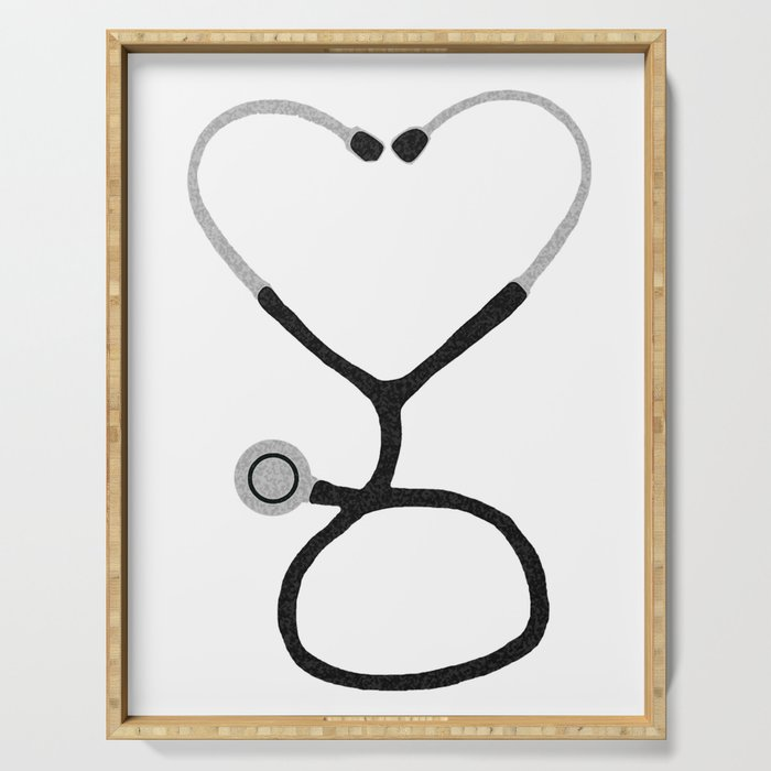 Heart Shaped Stethoscope for Doctor or Nurse Serving Tray