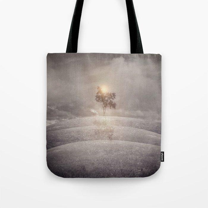The lone tree Tote Bag