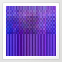 Bright Lines Blue Art Print