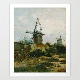 Vincent van Gogh - Windmills on Montmartre Art Print