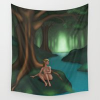 elf Wall Tapestries featuring Elf by Egberto Fuentes