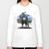 hunter Long Sleeve T-shirts featuring Hunter by Goldman