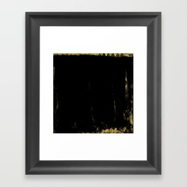 Black and Gold grunge modern abstract background I Framed Art Print